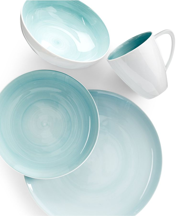 Mikasa Savona Teal 4-Piece Place Setting - Dinnerware - Dining & Entertaining - Macy's