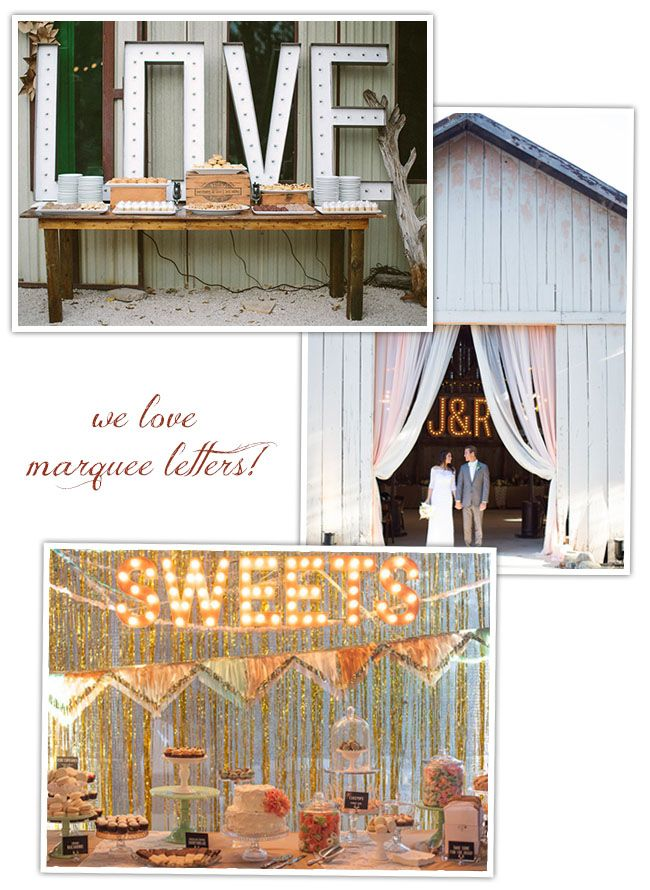 DIY: Marquee Letters | Green Wedding Shoes Wedding Blog | Wedding Trends for Stylish + Creative Brides