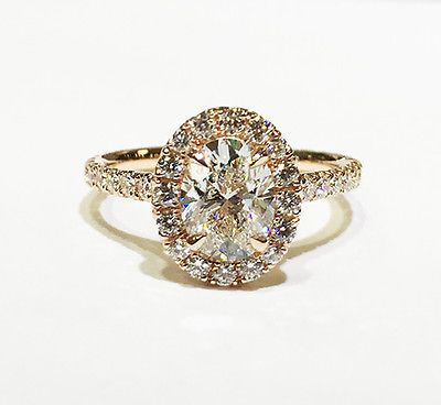 3.60 Ct. Oval Cut Pave Halo Diamond Engagement Ring - GIA CERTIFIED & APPRAISED
