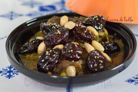 Tajine de boeuf aux pruneaux, un plat savoureux qui est très apprécié ai Maroc, un plat préparé pendant les fêtes et pour les réceptions .