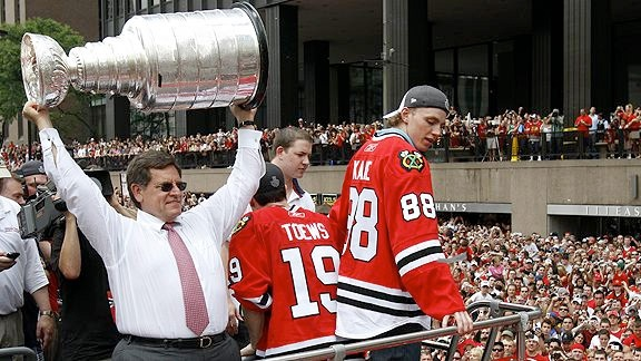 A Chicago parade celebrating a home team being crowned a world champion - Go Blackhawks!!!