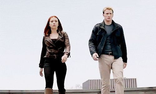 """The party don't start until Black Widow and Captain America walk in. (Where """"party"""" has the Avengers-style meaning: massive amounts of destruction, heading your way)."""