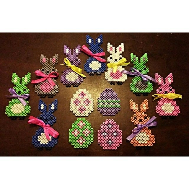 Easter ornaments perler beads by mariieejohansson