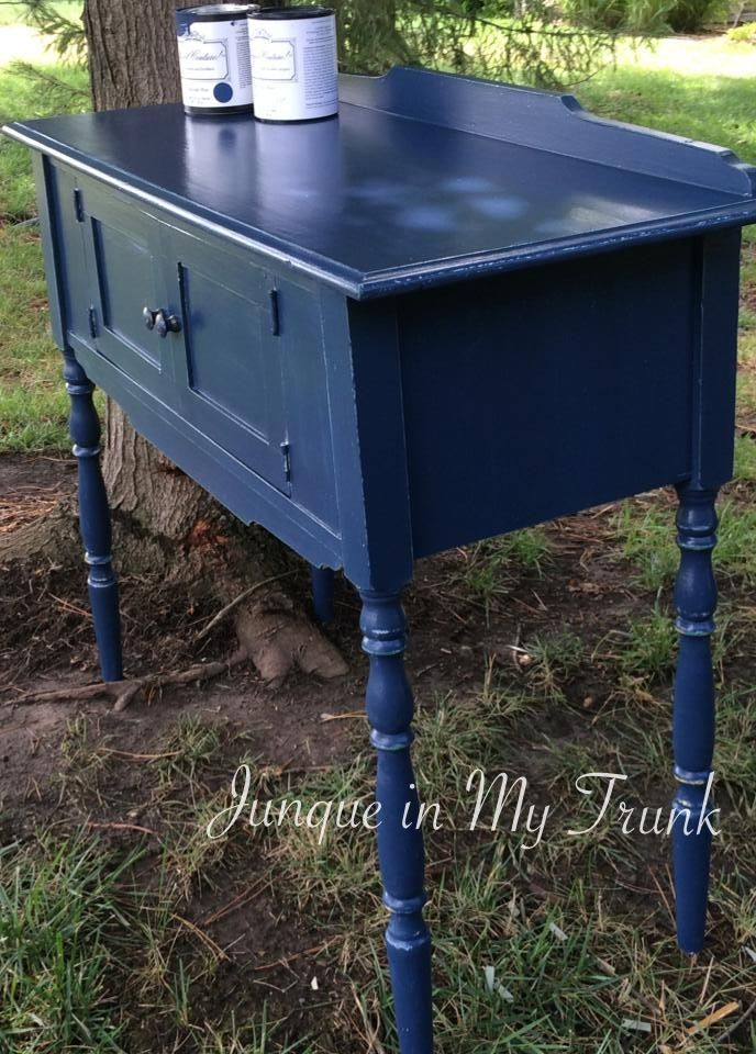 Nice Indigo Blue Painted Furniture