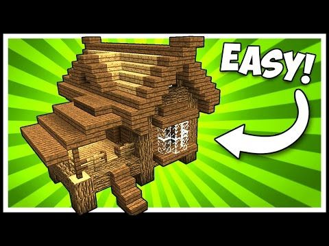 EFFICIENT WOODEN LODGE CABIN/HOUSE! - Minecraft Tutorial - YouTube