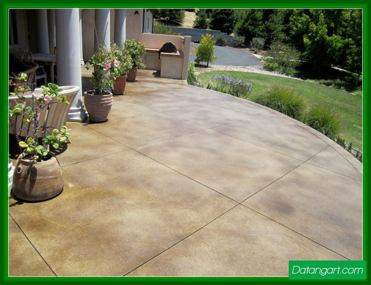 Stained Concrete Patio Colors Design Idea   Home Landscaping