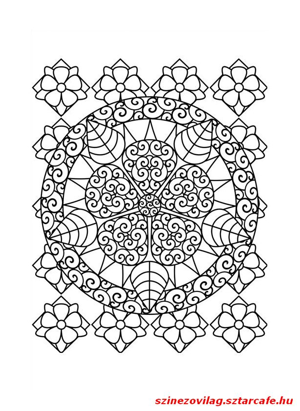 Flower Abstract Coloring Pages : 60 best mandala images on pinterest