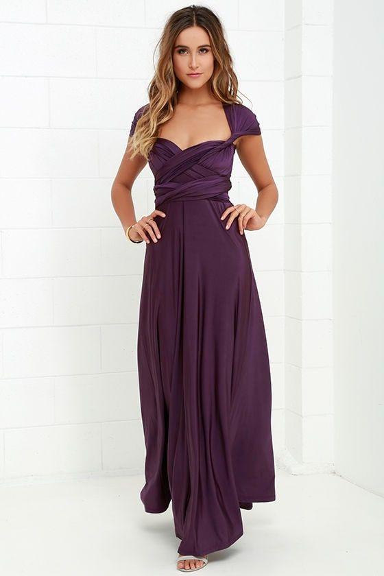 241f7ef230 Always Stunning Convertible Purple Maxi Dress 13