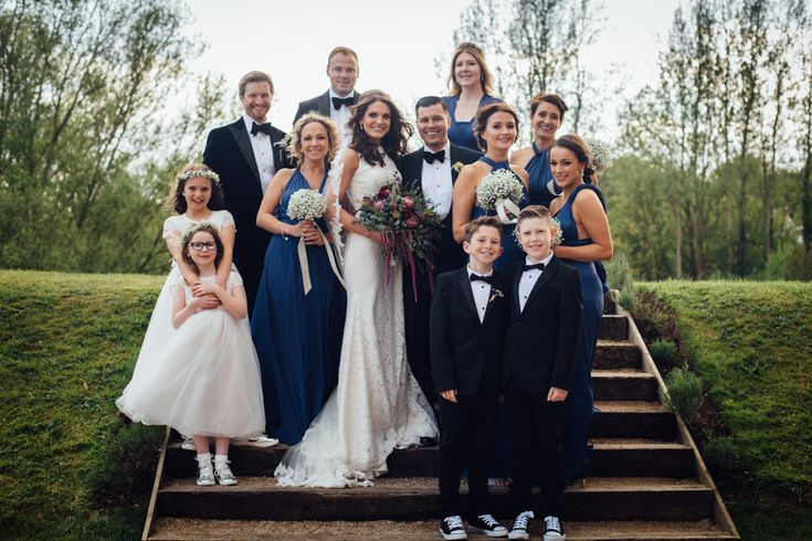 Wedding Party | Industrial Wedding at The West Mill Venue | Sarah Gray Photography