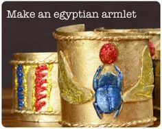 How to make an Egyptian armlet ~ Ancient Egyptian Craft Projects for Kids