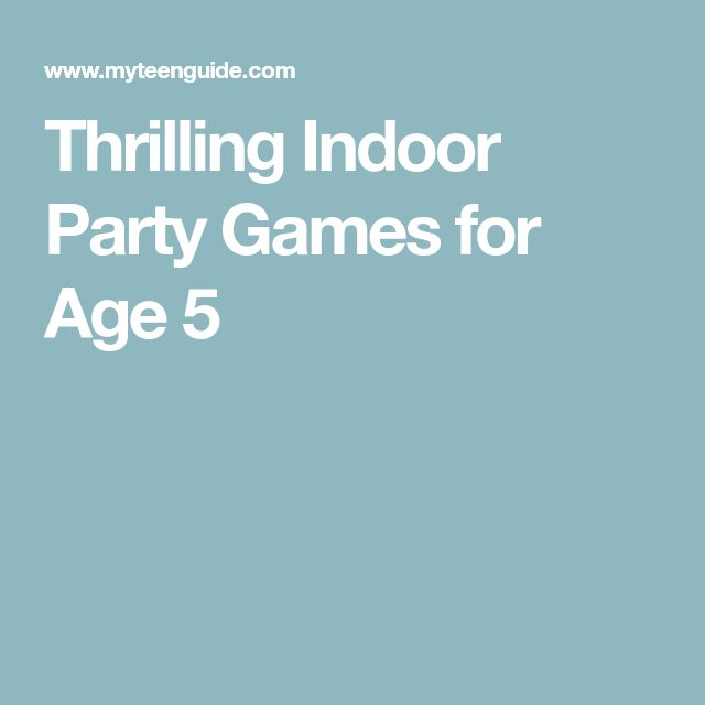 Thrilling Indoor Party Games for Age 5