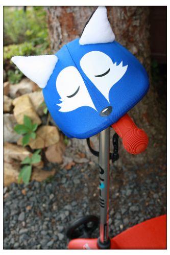 Blue fox helmet cover