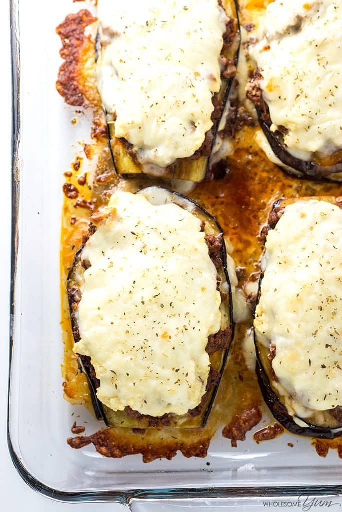 Eggplant Lasagna Recipe Without Noodles (Low Carb, Gluten-free) - This healthy low carb eggplant lasagna recipe without noodles is quick and easy to make, using simple ingredients. Just 20 minutes prep time!