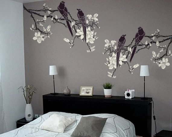 Stencil for Walls  Magnolia Tree Branch with by OliveLeafStencils, $49.95