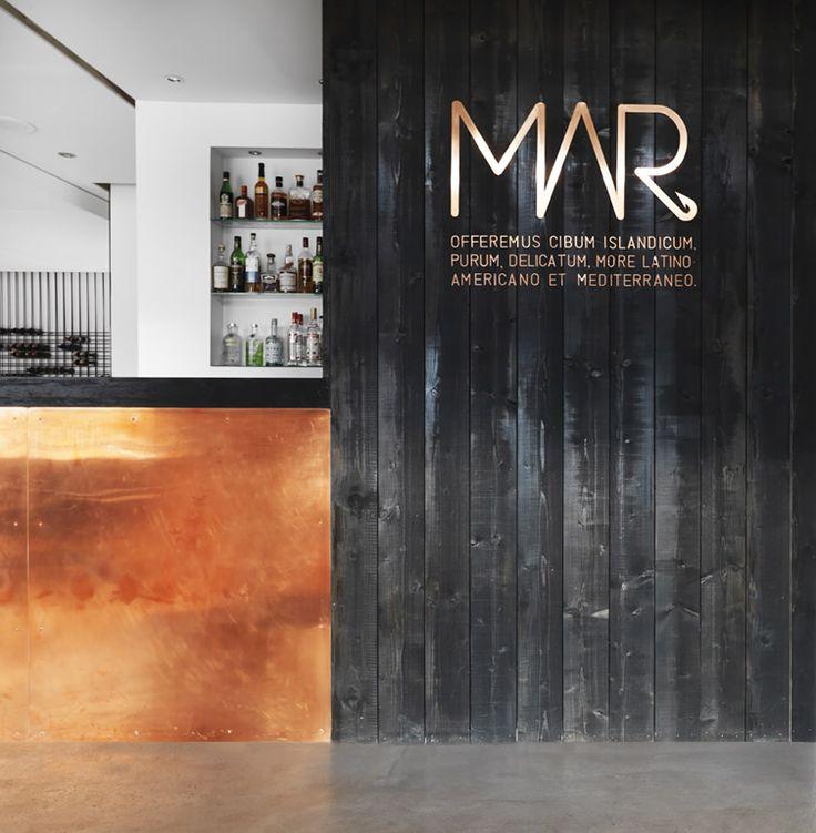 Copper Black Stained Timber Boards MAR, Reykjavík