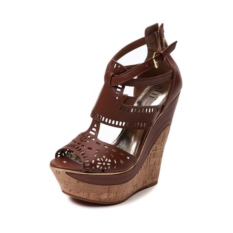 Womens SHI by Journeys Splitter Wedge, Brown | Journeys Shoes