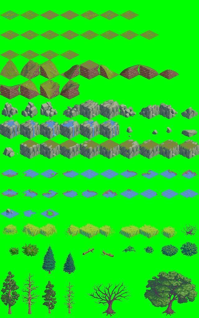 Isometric 64x64 Outside Tileset | OpenGameArt org | Isometric Art in