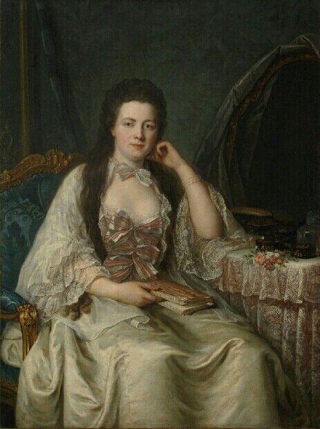 Portrait de Charlotte Jeanne Beraud de la Haie de Riou, marquise de Montesson, 1760 Guillaume Voiriot