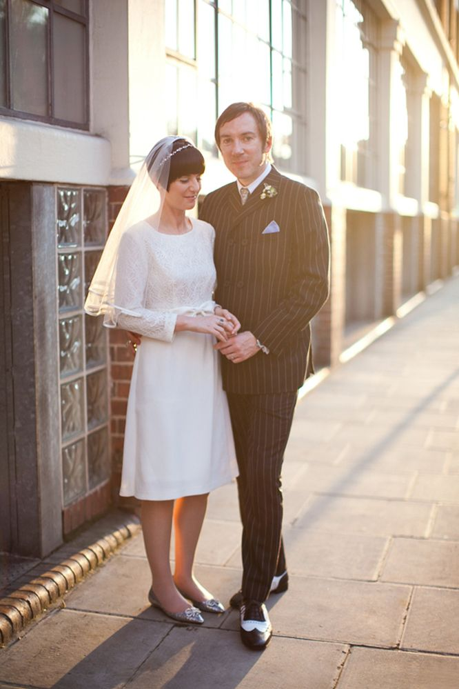 Mod London wedding~her dress is exactly like the one i bought but didn't wear for our Cali wedding.