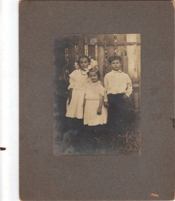 vintage cabinet photo children by ThingsFromMyPast on Etsy, $5.50