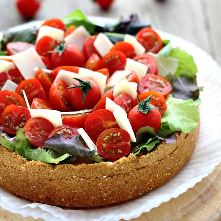 Αλμυρό cheesecake με παρμεζάνα και ντοματίνια, έτσι όπως δεν το έχετε ξαναφάει