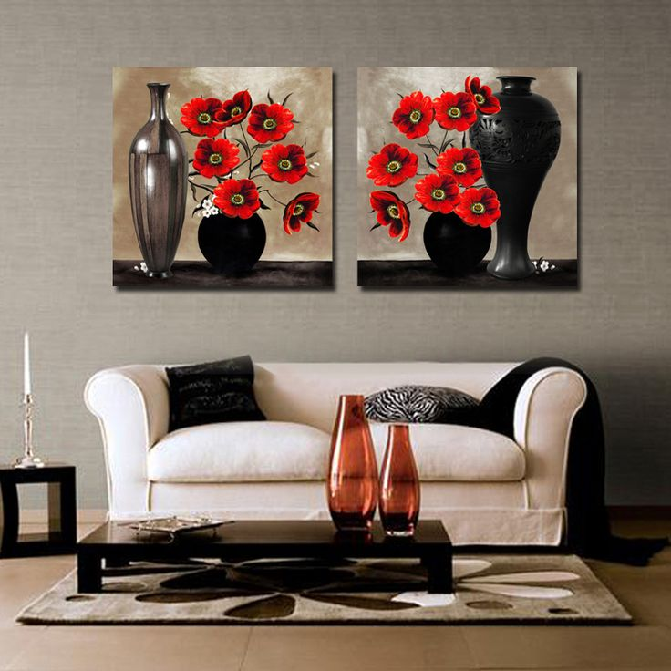Free Shipping Hot Sell Modern Wall Art Painting Black And Red Color Feeling Home Decor Art Picture Paint on Canvas Prints