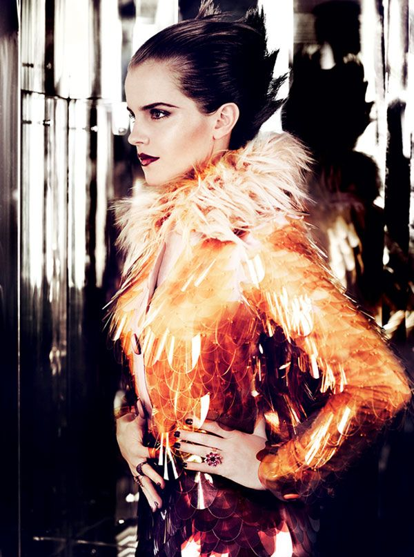 Emma Watson by Mario Testino for Vogue US July 2011