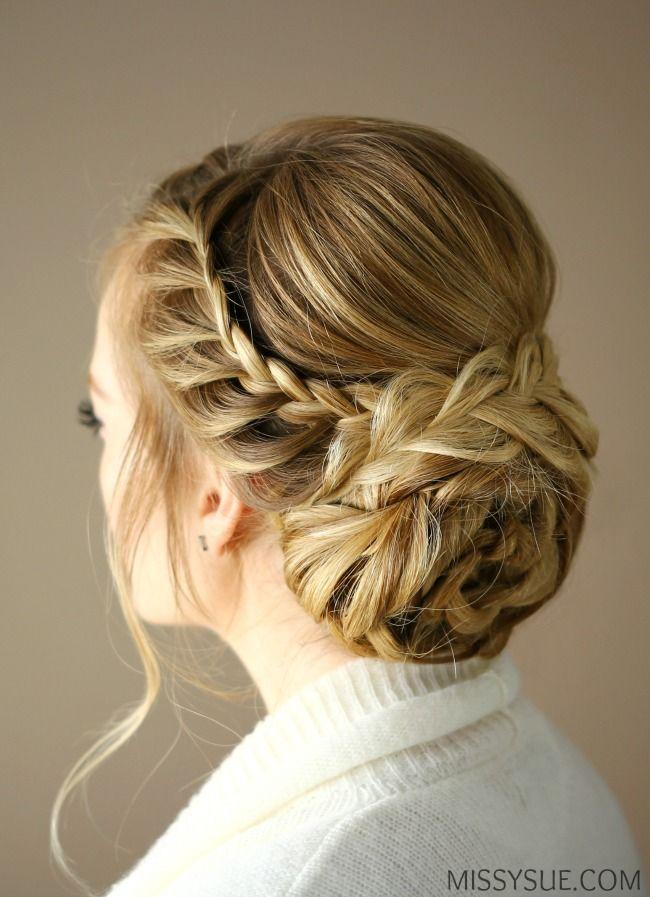 Braid Embellished Rosette Bun – MISSY SUE