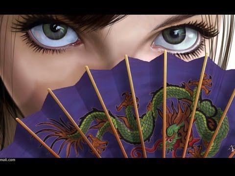 Традиционный  китайский шелковый веер - YouTube