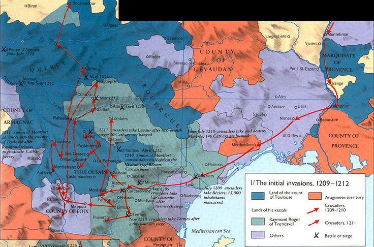 albigensian crusade | Six Phases of the Albigensian Crusade