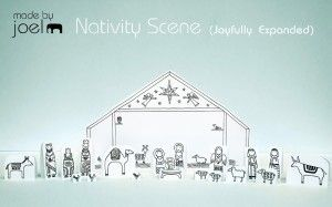 Paper City Nativity Scene Joyfully Expanded - These are so darn cute, just had to print them out.