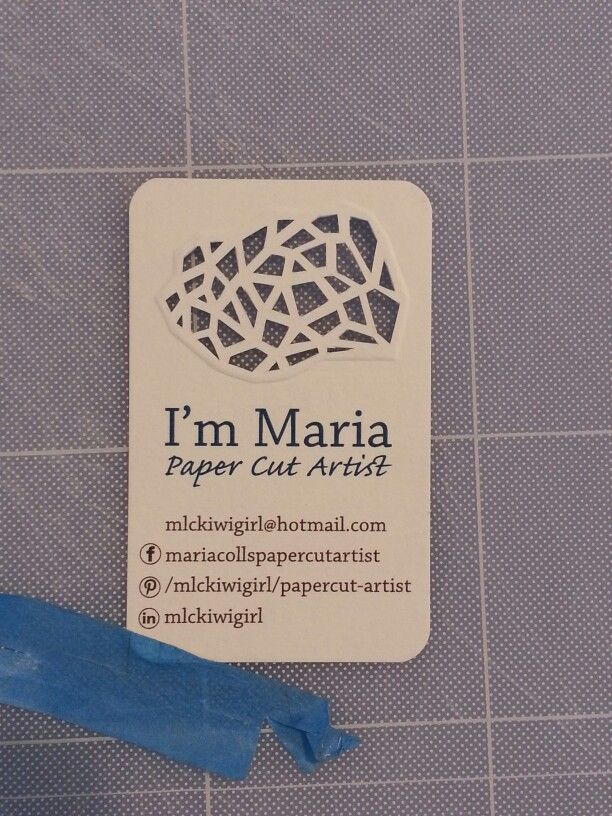 Developed my first business card. I had the card professionally done, except for the logo. I embossed and cut out the logo myself.