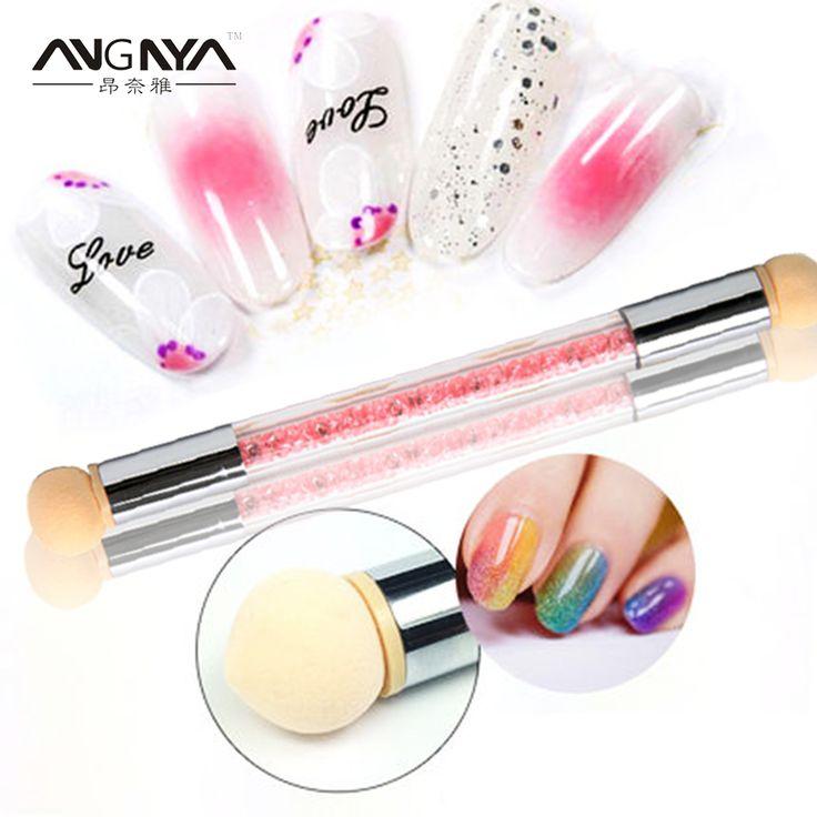 ANGNYA 12Pcs UV Gel Painting Nail Gradient Shading Pen Nail Art Sponge Brush with 6 Sponge Head FreeShipping 3 Colors