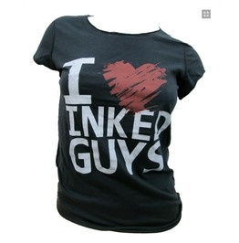 I Heart Inked Guys T-Shirt  @Kristin So ... and this should be your work shirt!