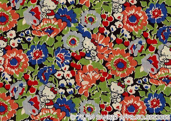 Hello Kitty  Liberty Art Fabrics 40TH ANNIVERSARY by sewsewnsew