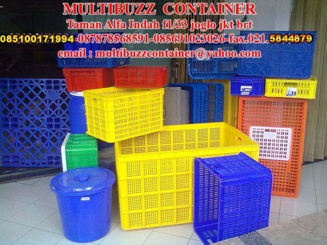 MULTIBUZZ CONTAINER PLASTIC SUPLIER. Taman  Alfa Indah f1/33 Joglo Jakarta Barat .telp 087878568591-087889463758-085691023026-085100171994-fax 021 5844879. Email : multibuzzcontainer@yahoo.com. suplier aneka keranjang plastik, keranjang industri,cool box,pallet plastik,tempat sampah,tong sampah,ember,drum,kursi plastik,lemari plastik dll siap kirim untuk pengadaan seluruh nusantara.