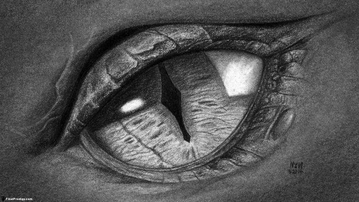 How to Draw a Dragon Eye, Smaug's Eye   FinalProdigy.com