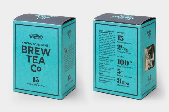 Brew Tea Co packaging designed by interabang.