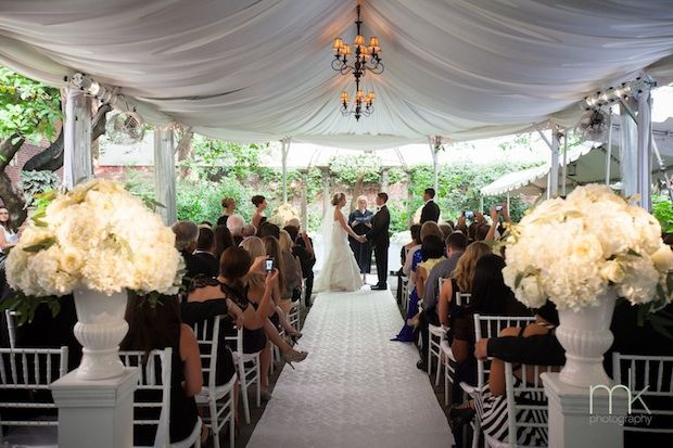 Beautiful Blooms - All White Tented Wedding Ceremony