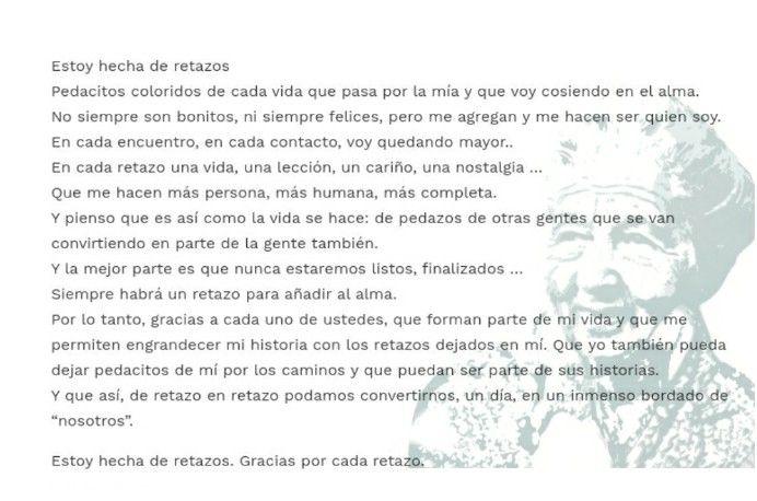 Estoy Hecha De Retazos Cora Coralina Retazos Poemas Frases Y Poemas