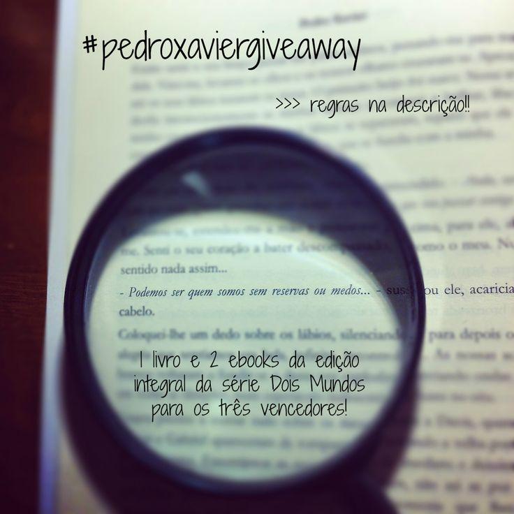 BOOK GIVEAWAY!  Participe e receba um exemplar de Dois Mundos grátis e autografado pelo autor no lançamento do livro, no dia 2 de maio, em Lisboa https://instagram.com/p/1l1TpgizQi/ @INDEXebooks  #pedroxaviergiveaway