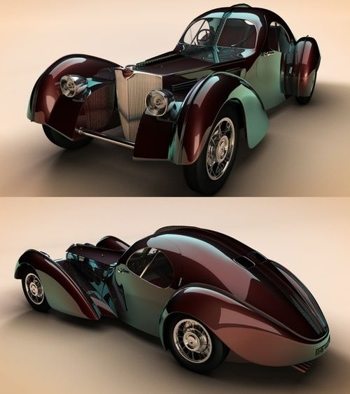 1938 Bugatti Type 57 looks like a beetle (the insect, not the car)