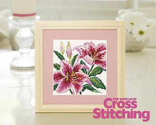 Stargazer lilies cross stitch design by The World of Cross Stitching, via Flickr (issue 193)