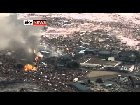 Most Unbelievable footage of Japanese Tsunami I have seen so far (taken ...