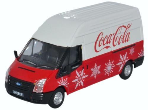 Ford Transit LWB High Coca Cola Xmas | Oxford Diecast