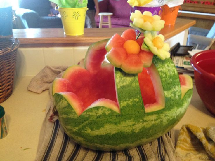 watermelon fruit basket   Watermelon Basket!