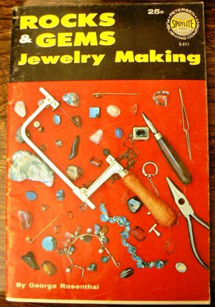 vintage how to book  ROCKS and GEMS JEWELRY MAKING 1961 retro how to!  by Inktiques, $12.00