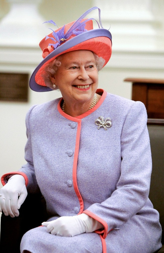 The Queen is a Red Hat Lady - lovely