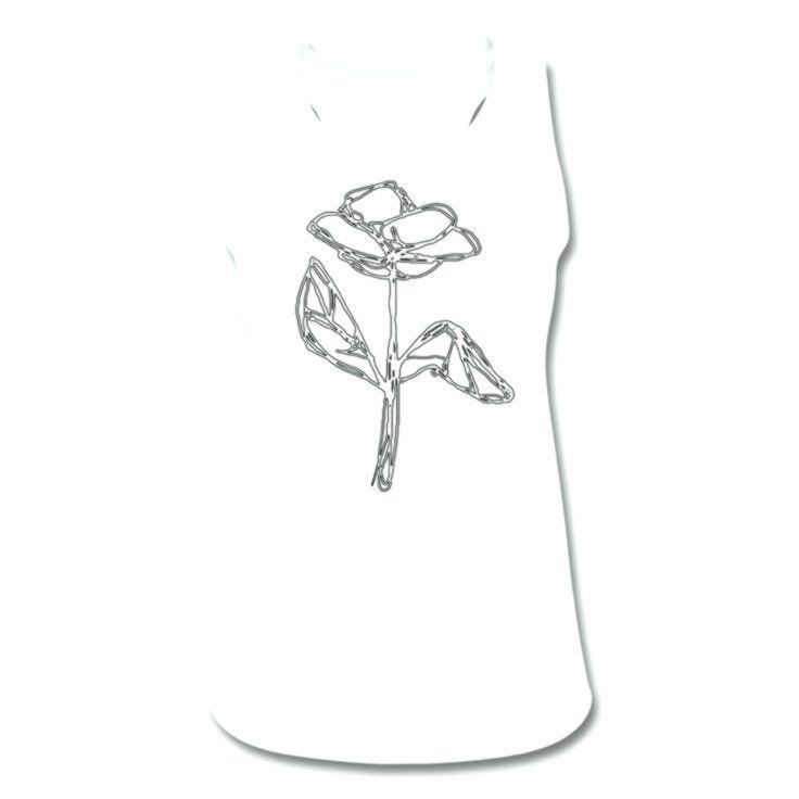 Schaum auf gefülltem Bierglas Linien-Zeichnung Frauen Tank Top atmungsaktiv – Weiß