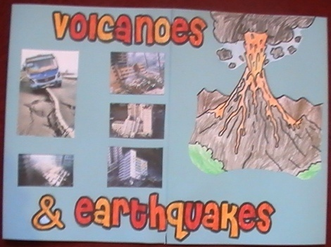 Volcanoes and earthquakes - ideas for vocabulary/notes